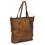 Класически Модел Дамска Чанта със Златна Висулка