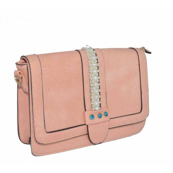 Розова Чанта с Перли