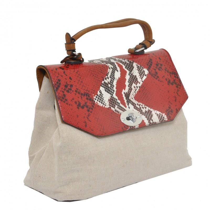 Екзотична чанта Snake print