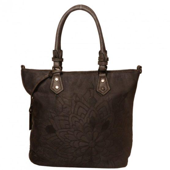 Ежедневна чанта с флорален акцент
