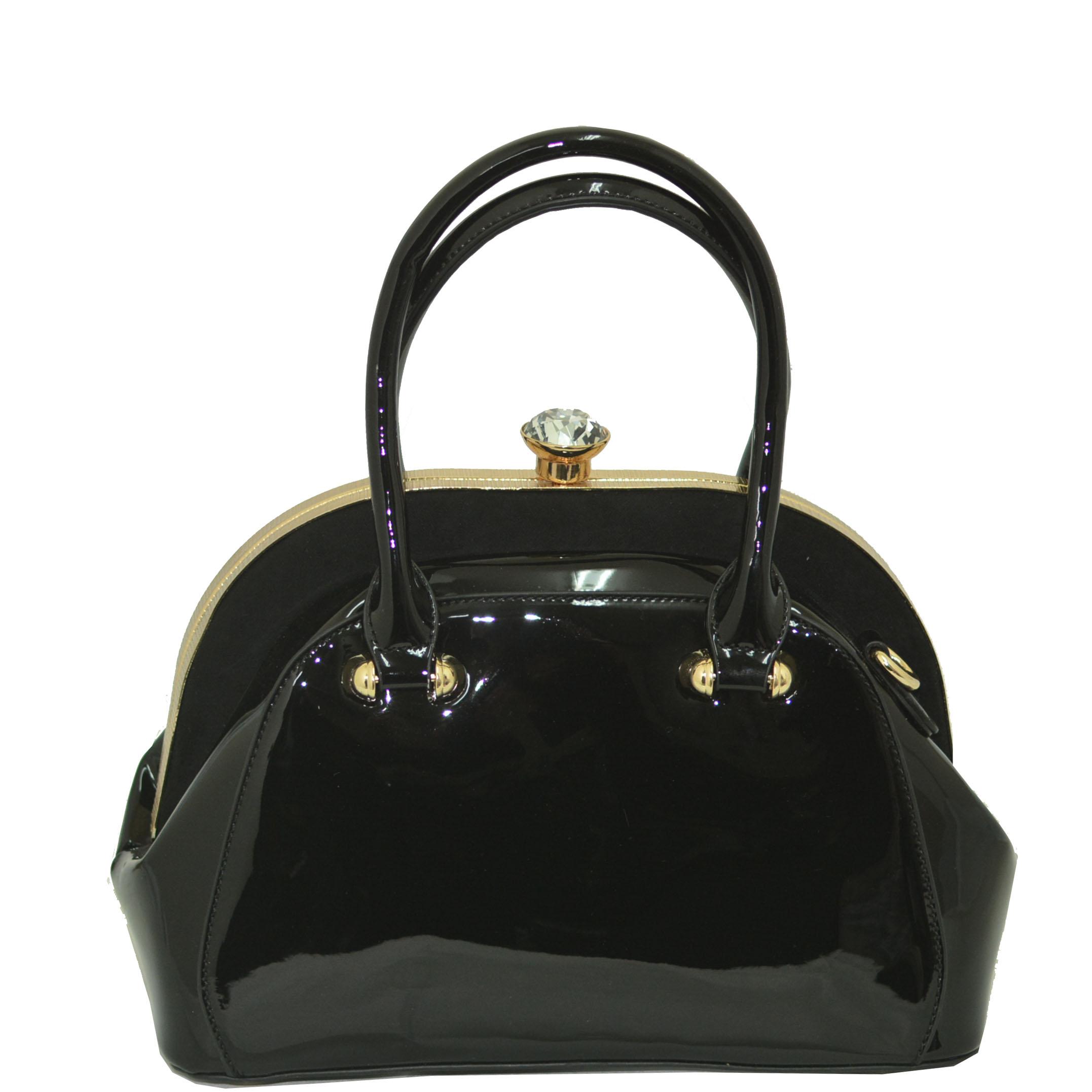 Луксозна лачена дамска чанта